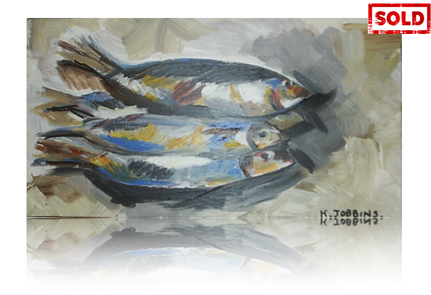 Four Little Fishes Artwork by Katy Jobbins