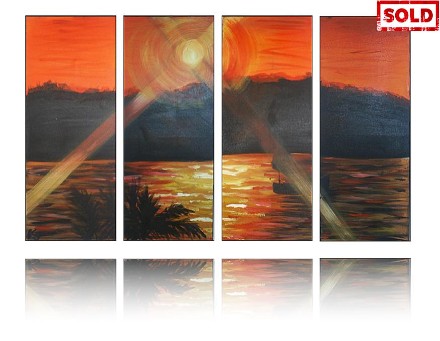 Miami Sunset Artwork by Katy Jobbins