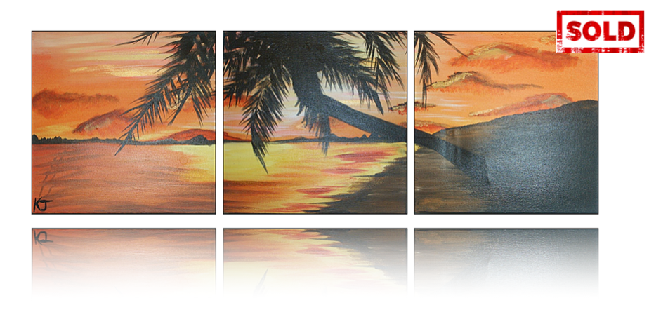 Paradise Sunset Artwork by Katy Jobbins
