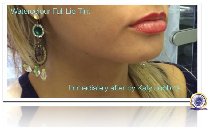 16-1-Katy Jobbins Permanent Makeup Watercolor Full Lip Tint
