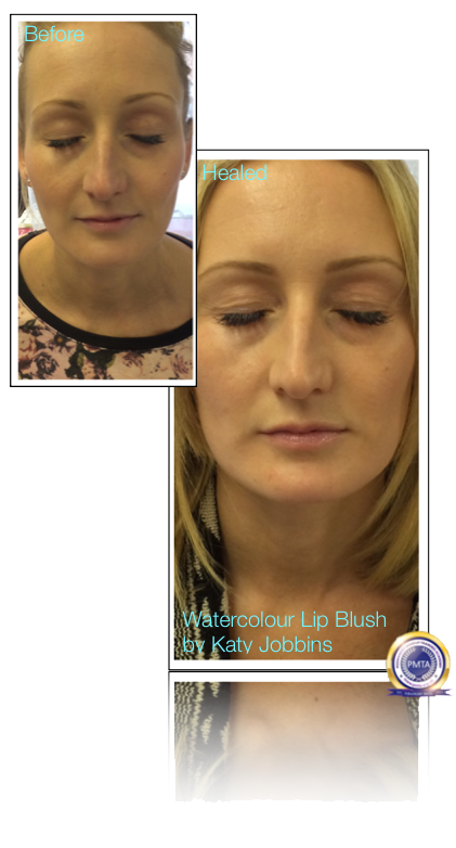 21-Katy Jobbins Permanent Makeup Watercolour Lip Blush For Blondes