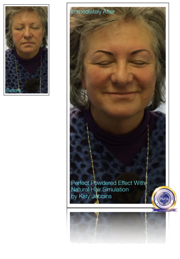 25-Katy Jobbins Permanent Makeup Perfect Powdered Effect With Natural Hair Simulation