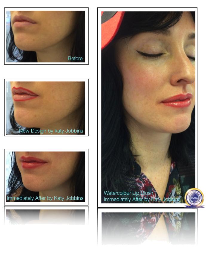27-Katy Jobbins Permanent Makeup Watercolor Lip Blush