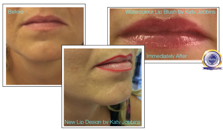 30-Katy Jobbins Permanent Makeup Watercolour Lip Blush