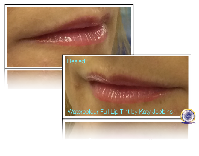 42-4-Katy Jobbins Permanent Makeup Watercolor Full Lip Tint