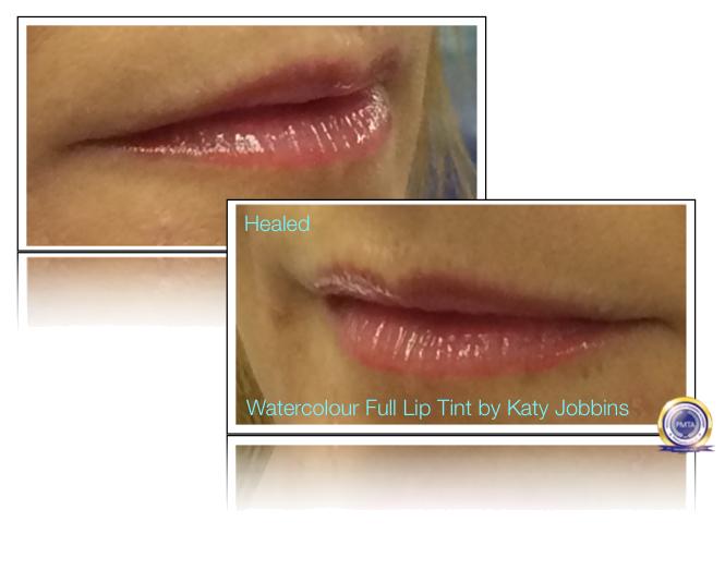 Part-4 Complete Permanent Makeup Process - Healed Lips 4-5 Weeks after having A Watercolour Full Lip Tint Permanent Makeup Procedure.