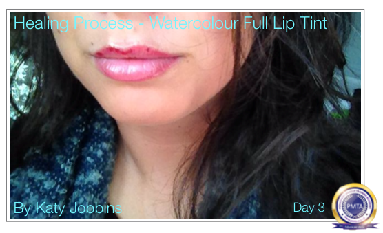 Day 3 - After Permanent Makeup Full Lip Tint
