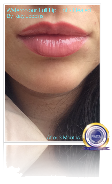 3 Months After Permanent Makeup Watercolour Full Lip Tint