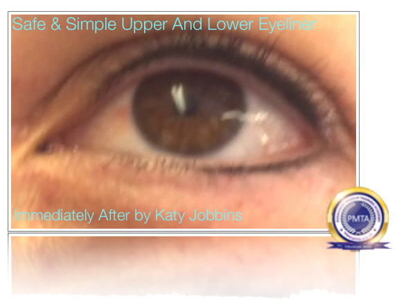 Permanent Makeup Safe & Simple Upper & Lower Eyeliner - Immediately After