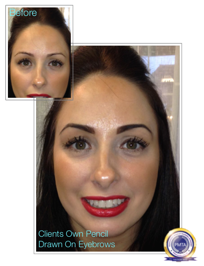 Before & After Perfect Powdered Effect With Natural Hair Simulation Permanent Makeup