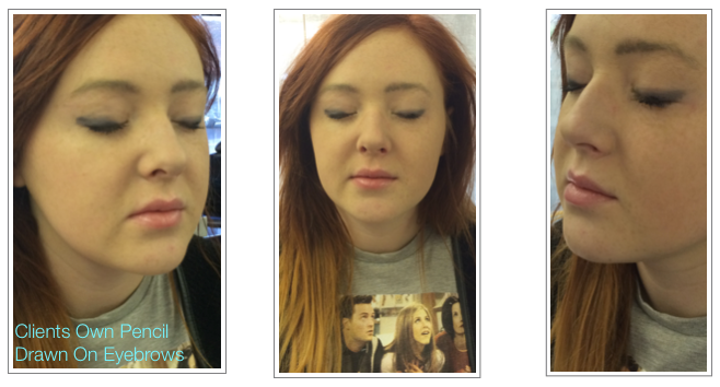 Prior To Permanent Makeup Natural Hair Simulation