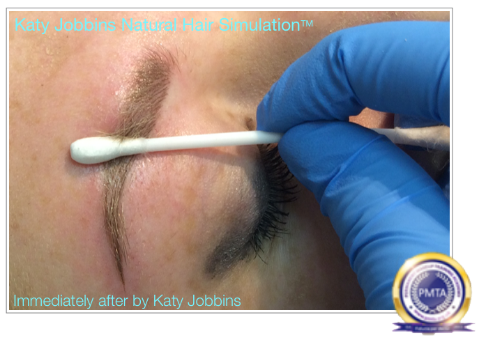 Immediately After Permanent Makeup Natural Hair Simulation