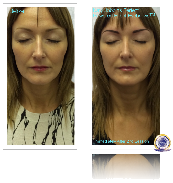 Permanent Makeup 2nd Session Powered Effect Eyebrows