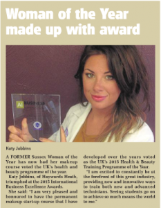 Katy-Jobbins-Featured-in-Leader-News-Paper-for-International-Business-Excellence-Award-233x300