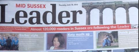 Katy-Jobbins-Leader-Newspaper-Front-Page